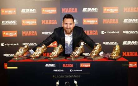 Lionel Messi Wins 3rd Straight Golden Shoe as Top Scorer in European Leagues