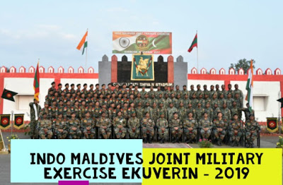 Indo Maldives joint Ex Ekuverin – 19 at Aundh Mil Stn, Pune from 07 to 20 Oct 19