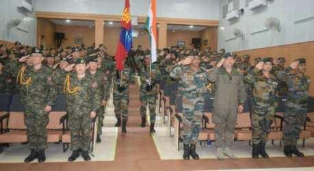 Opening Ceremony Indo Mongolian Joint Exercise Nomadic Elephant- XIV