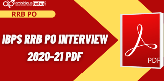 IBPS RRB PO Interview 2020 PDF