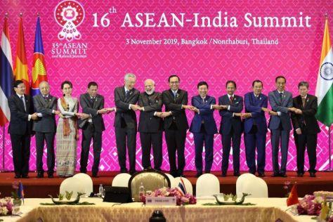 Prime Minister Narendra Modi attended 16th Asean India Summit