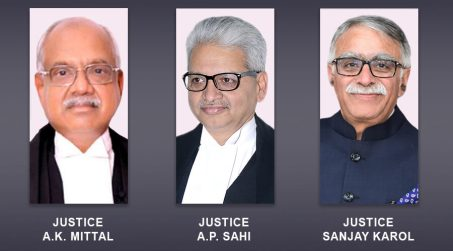 New Chief Justices appointed to Madras, Patna, Madhya Pradesh High Courts
