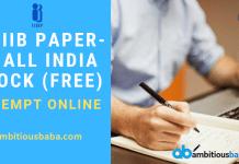 All India Mock Paper-2 JAIIB