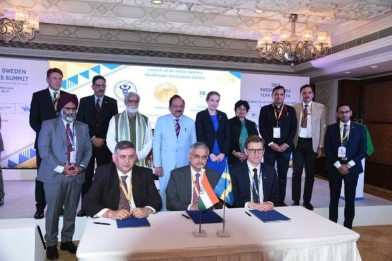 India and Sweden sign Memorandum for India-Sweden Healthcare Innovation Centre