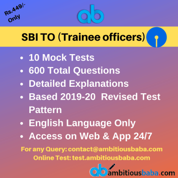 SBI Trainee Officers (TO) General Awareness related to
