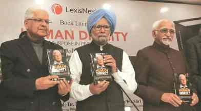 "Book ""Human Dignity– A purpose in perpetuity"", launched by Manmohan Singh"