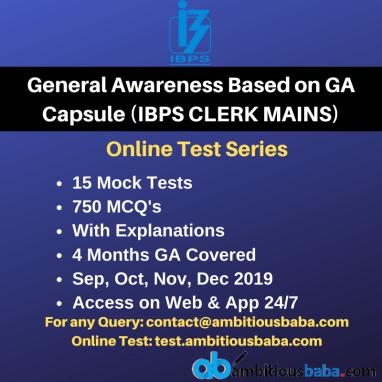IBPS GA Capsule based Test Series