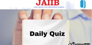 JAIIB Quiz for 2021 Exam