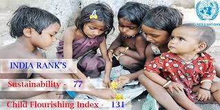 India ranks 77th on sustainability, 131st in child flourishing index rankings: UN report