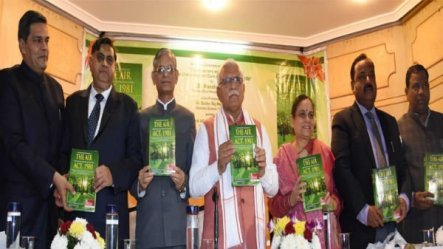 """Haryana Chief Minister, Mr. Manohar Lal Released A Book Titled """"A Commentary And Digest On The Air, Act 1981"""""""