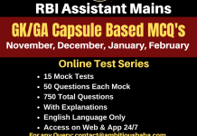 RBI Assistant Mains GA Capsule