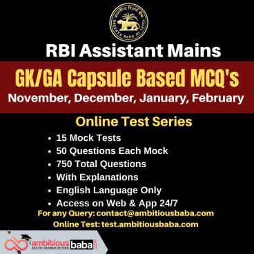 RBI Assistant Mains GA Capsule