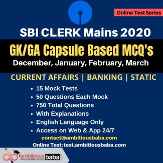 SBI Clerk GA Capsule Based 2