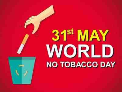 31st May: World No Tobacco Day 2020