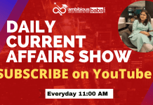 Daily current affairs show on Youtube ambitiousbaba