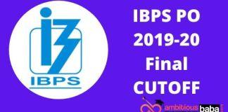 IBPS PO FINAL CUTOFF