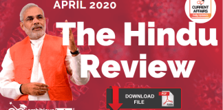 The hindu Review April 2020 PDF