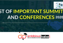 List of Important Summit and Conferences 2020