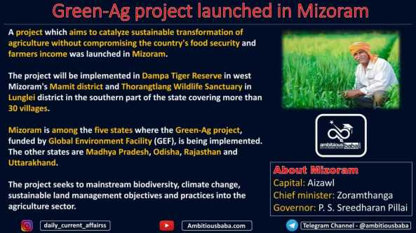 Green-Ag project launched in Mizoram