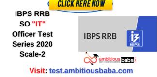 RRB SO IT office test mock 2020