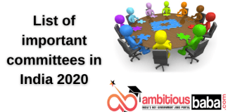 List of important committees in India 2020