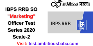 IBPS RRB SO Marketing Officer Test Series 2020 Scale-2