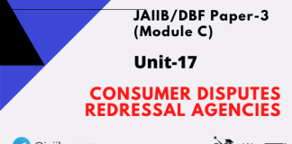 Consumer Disputes Redressal Agencies: Jaiib/DBF Paper 3 (Module C)