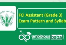FCI Assistant (Grade 3) 2020 Exam Pattern and Syllabus