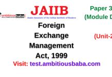 Foreign Exchange Management Act, 1999: Jaiib Paper 3 (Module D)