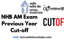 NHB Assistant Manager Previous years Cut-off 2020