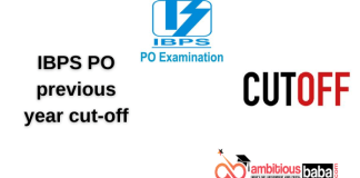 IBPS PO previous year cut-off