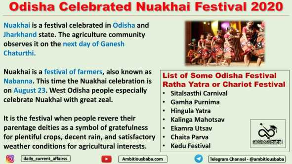 Odisha Celebrated Nuakhai Festival 2020
