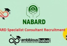 NABARD for Specialist Consultant Recruitment 2020 : 13 Post check here