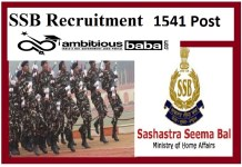 SSB for Constable Recruitment 2020 : 1541 Post check here