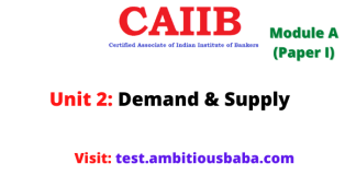 Supply and Demand: Caiib Paper 1 (Module A), Unit 2