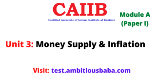 Money Supply and Inflation: Caiib Paper 1 (Module A), Unit 3
