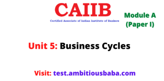 Business Cycles: Caiib Paper 1 (Module A), Unit 5