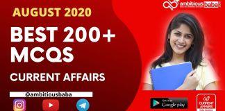 Best 200+ MCQs August 2020