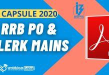 GK Capsule for RRB PO & Clerk Mains 2020