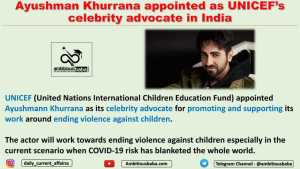 Ayushman Khurrana appointed as UNICEF's celebrity advocate in India