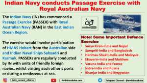 Indian Navy conducts Passage Exercise with Royal Australian Navy