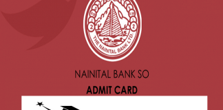 Nainital Bank For Specialist Officer 2020 Admit Card Out : Download Now
