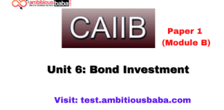 Unit 6: Bond Investment