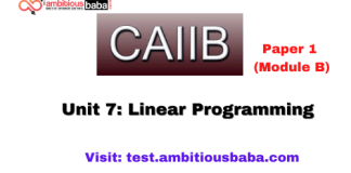 Linear Programming: Caiib