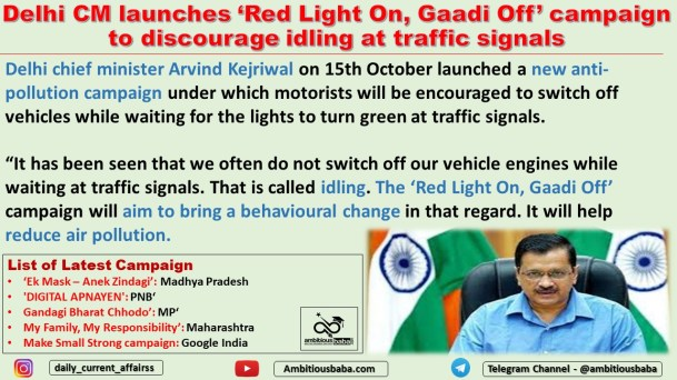 Delhi CM launches 'Red Light On, Gaadi Off' campaign to discourage idling at traffic signals