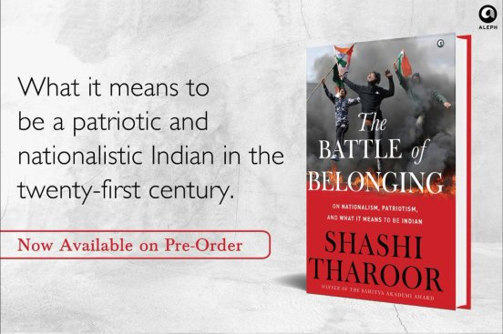 A book titled 'The Battle of Belonging' authored by Shashi Tharoor