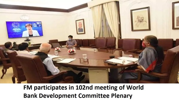 FM participates in 102nd meeting of World Bank Development Committee Plenary