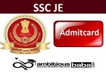 SSC Junior Engineer JE Tier I 2020 Admit Card Out : Download Now
