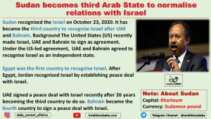 Sudan becomes third Arab State to normalise relations with Israel