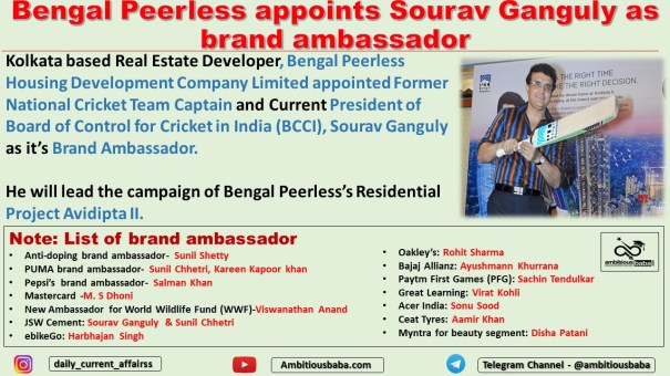 Bengal Peerless appoints Sourav Ganguly as brand ambassador